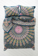 mandela Designer Sanganeri Printed Queen Size Royal Looking Bedsheet / Bed Spread Comfortable Home