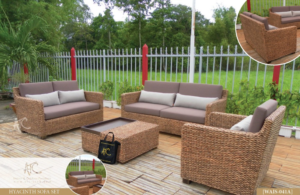 Wicker rattan living room furniture for Wicker living room furniture