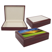 Personalized Sublimation Blank Tile Lid Unfinished Wooden Jewellery Box/Keepsake Box