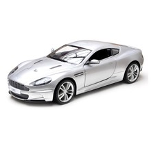 Rastar Licensed Aston Martin DBS with Remote Controlled Battery Operated RC Toy Racing Model Car Diecast 1:10 Scale Silver