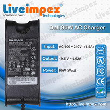 New high quality ac adapter chargers for dell 90w inspiron, latitude, vostro, XPS laptop with 19.5V 4.62A power