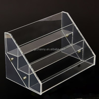 High Quality Removable Acrylic Nail Polish Rack Display 3 Layers Can Put 18 Bottles