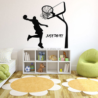Hot Hale!! 1PCS 45X72CM Basketball Dunk Sport Removable Wall Art Decal Vinyl Sticker Excellent Quality