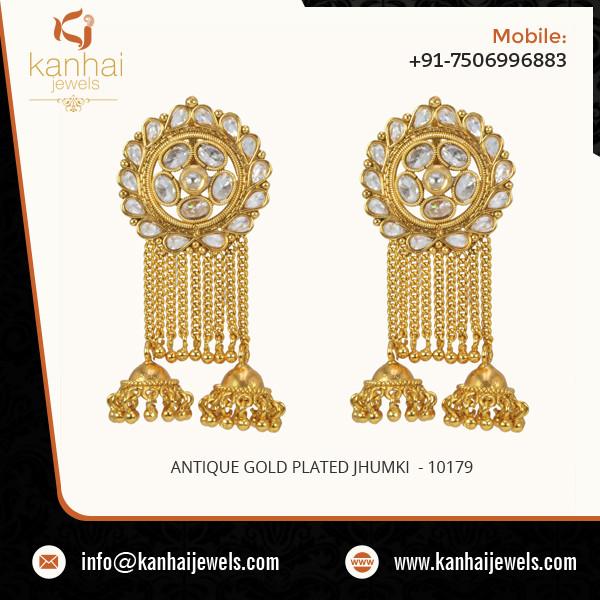 Antique Gold Plated Jhumki 3.jpg