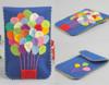 Phone felt case handmade blue with air baloons