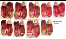 Traditional Embroidery Juti shoes -Punjabi style khussa Shoes-Indian woman Chappal Wholesale-handmade ethnic Beaded Mojari
