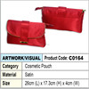 clutch bag / Cosmetic Pouch (red satin)