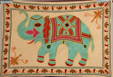 Indian Cotton Suzani Table Runner Table Cloth Kitchen Dining Table Cover Throw Elephant Tapestry Indian Embroidered Decor