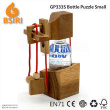 3D wood Brain Teaser Wine Bottle Puzzle