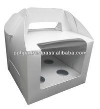 Window Cup Cake Handle Box 4pc
