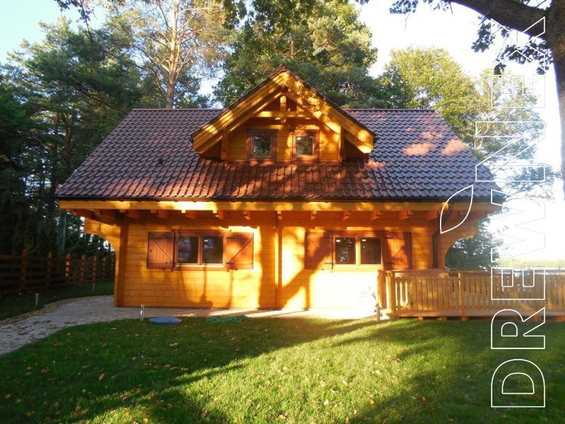 Prefabricated Wooden Log House Bajka Beautiful Project