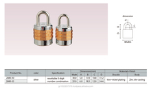 Alpha Japanese High quality 3 digits conbination lock with beautiful silver color./2880 series padlock