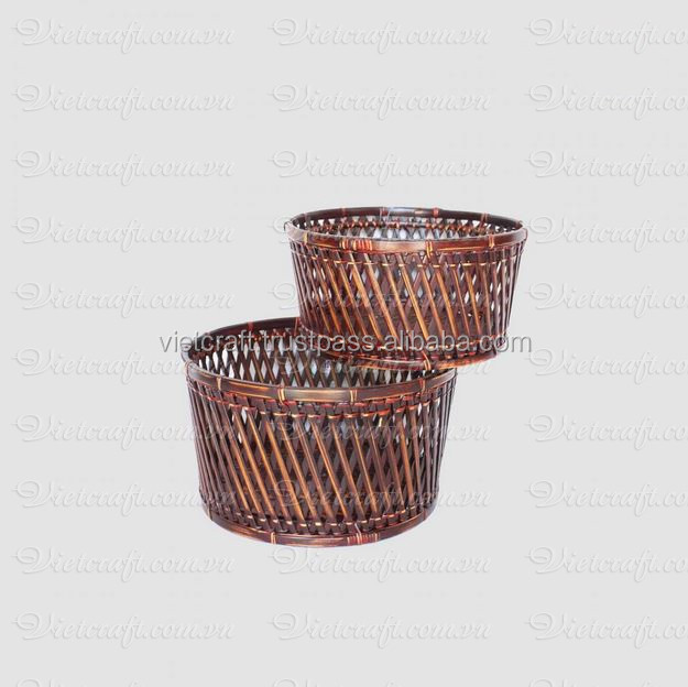 Handmade Basket Companies : Multi color handmade rattan baskets with lid for kitchen