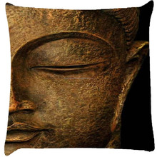 luxury Fashionable Hotsale Single Square Snoogg Buddha Actual Cushion Cover Throw Pillows 16 x 16 Inch For Bench Seat