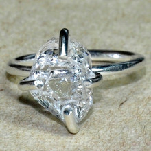 Silver Ring, Harkimar Diamond, 925 Sterling Silver Ring Fabulous Ring Engagement Ring T1317