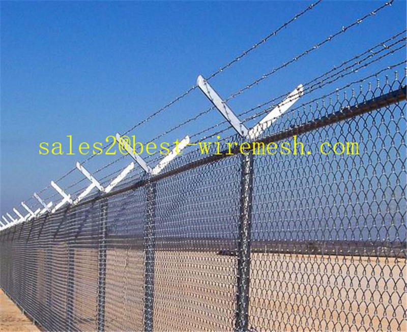 Chain Link Fence Barbed Wire Arms/galvanized Barb Wire Extension ...