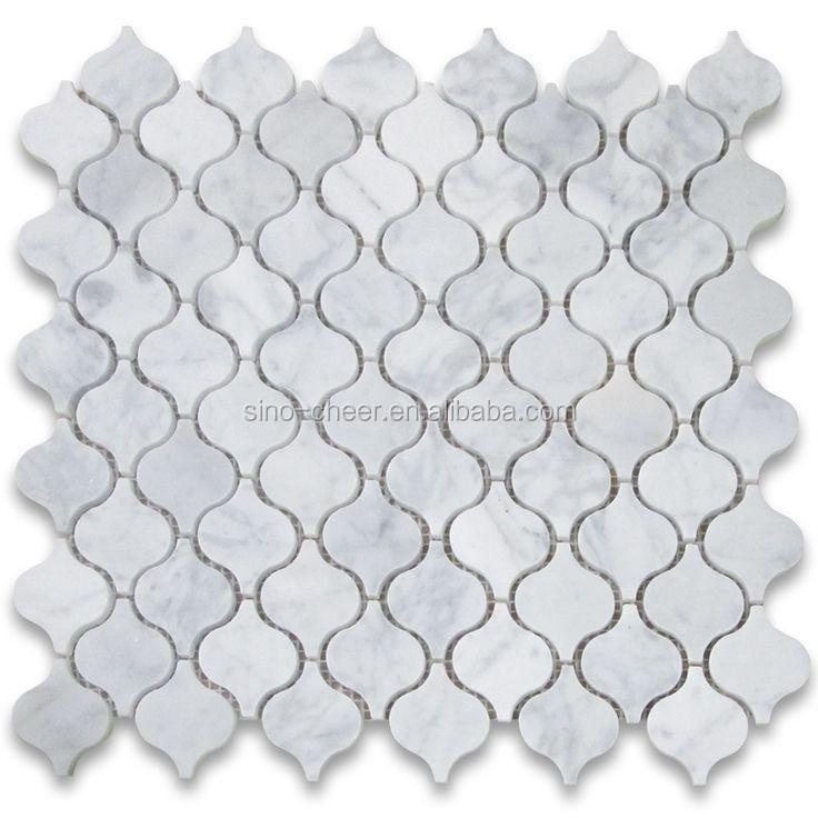 neues design carrara arabeske weißem marmor mosaik für bad-mosaik, Hause ideen