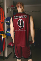 Polyester Sublimation red and white basketball jerseys yellow basketball jersey design
