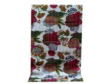 Indian Kantha Quilt Fruit Print Kantha Bed Cover Handmade Kantha Quilt Blanket Wall Hanging Indian Manufacturer & Wholesale