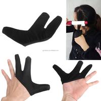 1PC Fashion Modern Style Three fingers design Hair Strag Hairdressing Heat Resistant Finger Glove Black Straightening Curling