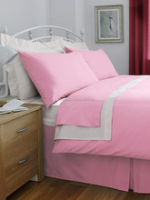 cotton Material 3 Star Hotel Popular 300t Flat Sheet / Duvet Cover Plain Dye Duvet Cover Set 2