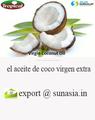 el aceite de coco virgen extra