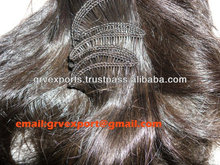 Indian Human Hair Remy Single Drawn Curly