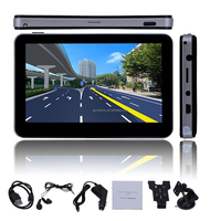 Hot Sale 5 inch 4GB 480 x 272 pixel HD Screen Car GPS Navigation System Navigator SAT NAV Free Maps Updates with Headphones