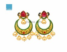Indian Peacock Designer Gold Plated Indian Stylish Girl/Women Earrings