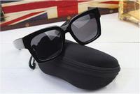 Hot Protable Zipper Clam Shell Hard Case Pouch Bag Eye Glasses Sunglasses Box #58328
