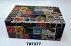 Caixa de madeira pintado Collectible selos