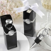 Zinc Alloy Bottle Stopper with Glass Gemstone & Silicone g shape silver color plated nick lead & d free 100mm 15PCs/Lot Sold By
