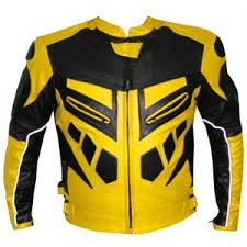 เย็นสีเหลืองและสีดำแจ็คเก็ตหนังรถจักรยานยนต์/taidocโดยคุณภาพที่ดีที่สุด
