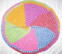 Felt Mats / Round/ Nepal/Handmade/ 50 cm / Five Color