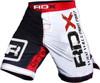 RDX Fight MMA Shorts White Red