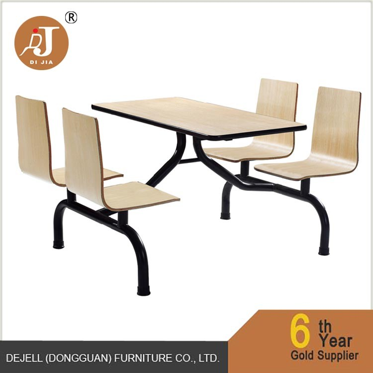 Restaurant Green Top Stainless Steel Dining Table and Chair Sets.jpg