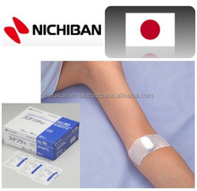 Dialysis medical supplies, sterilized and individual packed bandage after taking out dialysis needles, NICHIBAN, made in Japan