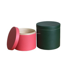 best selling small spun round bamboo box with lid