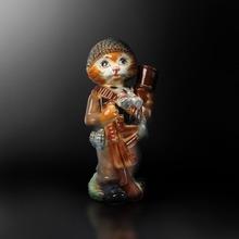 Ceramic souvenir bottle cat shape for wine, vodka, brandy, cognac