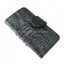 Crocodile leather cover for iphone 5