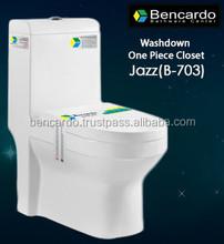 Wash Down One Piece closet - One Piece Toilet - Gravity Flushing - Sanitary ware - Toilet - B- 703