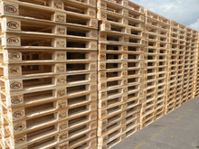 EURO pallet with wooden blocks