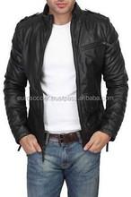 New Men Fashion Designer Style Black Lambskin Leather Jacket Coat