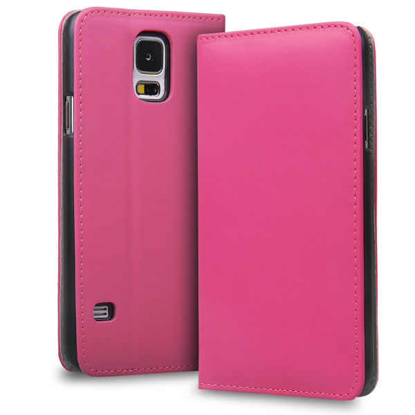BEST HIDDEN MAGNET FLAPLESS DESIGN MOBILE PHONE LEATHER CASE FOR SAMSUNG GALAXY S5 - SM-G900