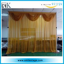 2015 popular adjustable pipe waterfall backdrop curtain design