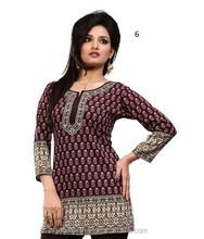Ladies Punjabi Kurtis | Printed Crepe Kurtis