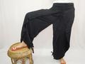 Mujeres negras Yoga Boho Gypsy Harem pantalones de Aladdin pantalones de plástico del pescador tailandés pantalones