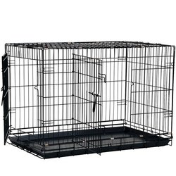 Bunty Metal Dog Cage Crate Bed Portable Pet Puppy Training Travel Carrier Crate Basket