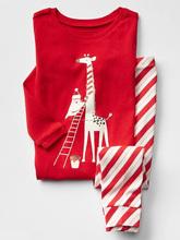 Candy stripes impresa pijama para los niños