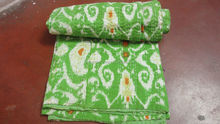 Cotton Kantha Quilts Fashionable Green